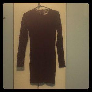 Tobi XS Burgundy lace dress
